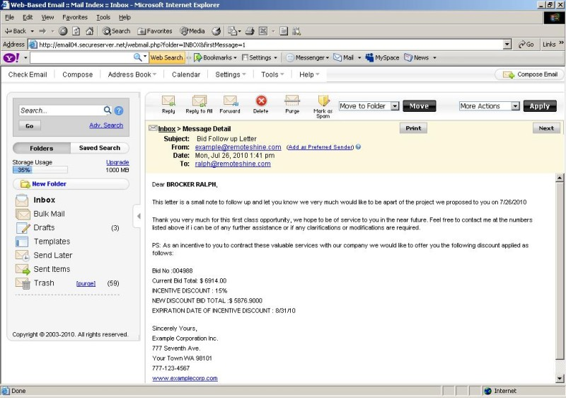 Example Of Application Letter Via Email Buy Original